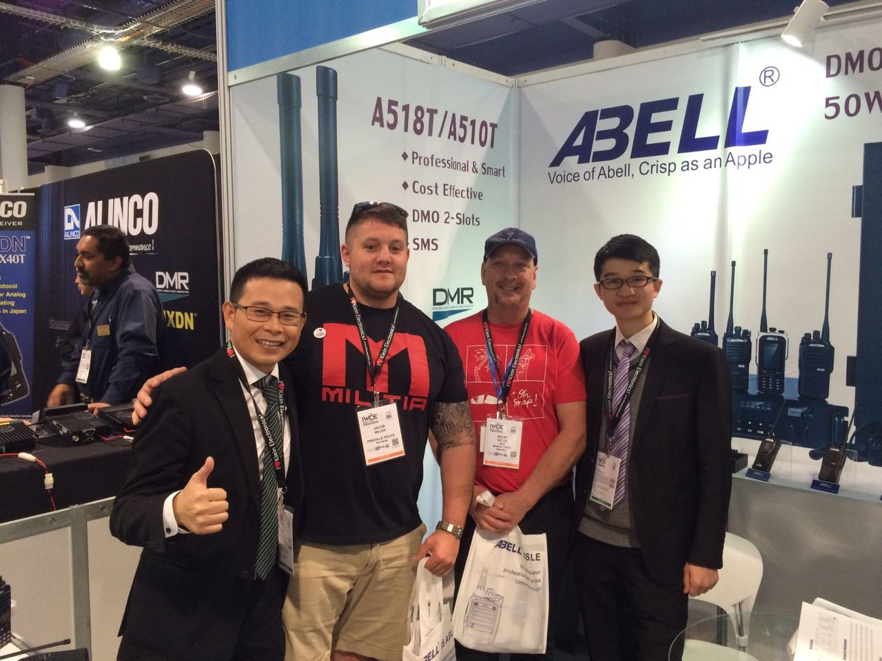 IWCE 2017 witnessed Abell's remarkable innovation on digital repeater and portables radios.